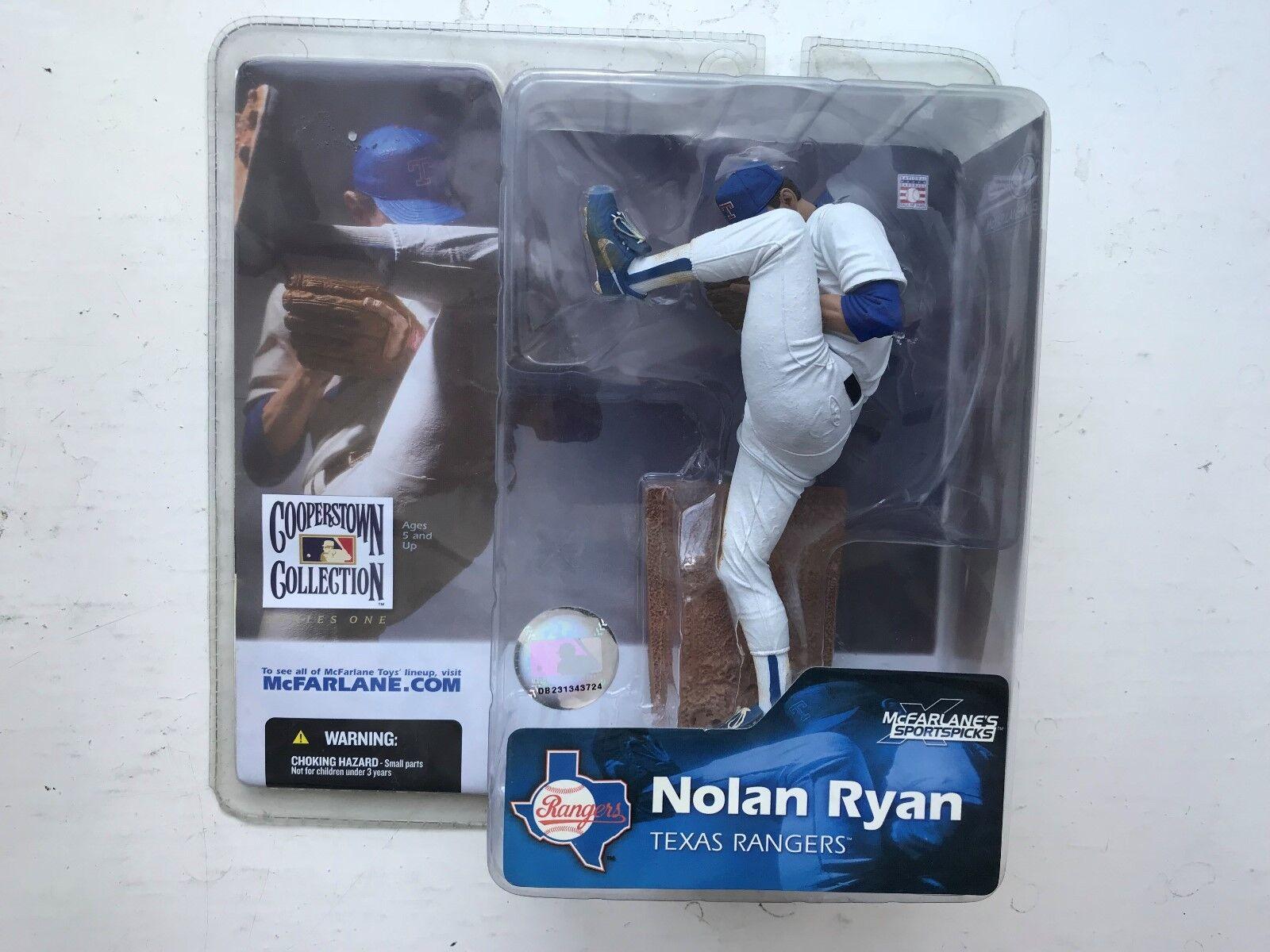 BNIB MCFARLANE BASEBALL MLB SERIES 1 FIGURE NOLAN RYAN COOPERSTOWN COLLECTION