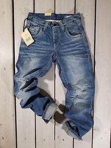 Pvp-Nuevo-Jack-amp-Jones-VAQUEROS-para-HOMBRE-Jj-577-Boxy-Powel-Deslavado-Azul