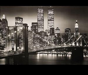 Image Is Loading New York City Skyline Wall Art Decor Manhattan