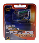 4x Gillette Fusion Proglide Power Klingen