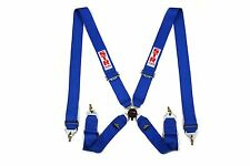 4 Point FIA Approved (2020) STR Seat Belt Safety Harness Restraint Bucket Blue