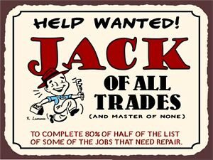 Jack of all trades METAL SIGN 2 Sizes Available ideal for pub bar Man Cave otONgALa-09165749-551385947