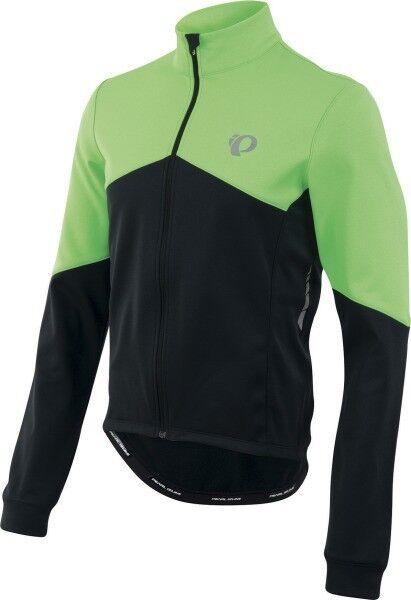 Pearl Izumi Elite Thermal ls Jersey Langarm-Fahrradtrikot zwart groen 3 Zaks