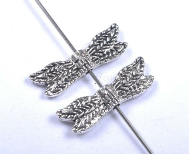 20pcs Tibetan Silver Angel Wings Spacer Charms Beads Jewelry Finding 20MM BE1002