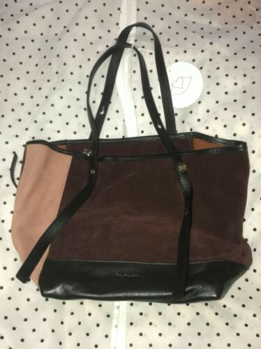a Chloe mano originale Nuovo Purple Borsa See By Suede Mini 100 donna da Peach rftwtRq