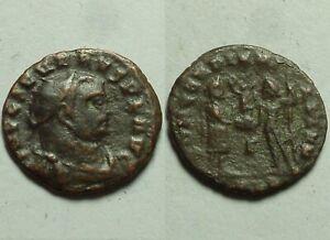 Rare genuine Ancient Roman coin Severus II 305AD Jupiter, victory, Alexandria