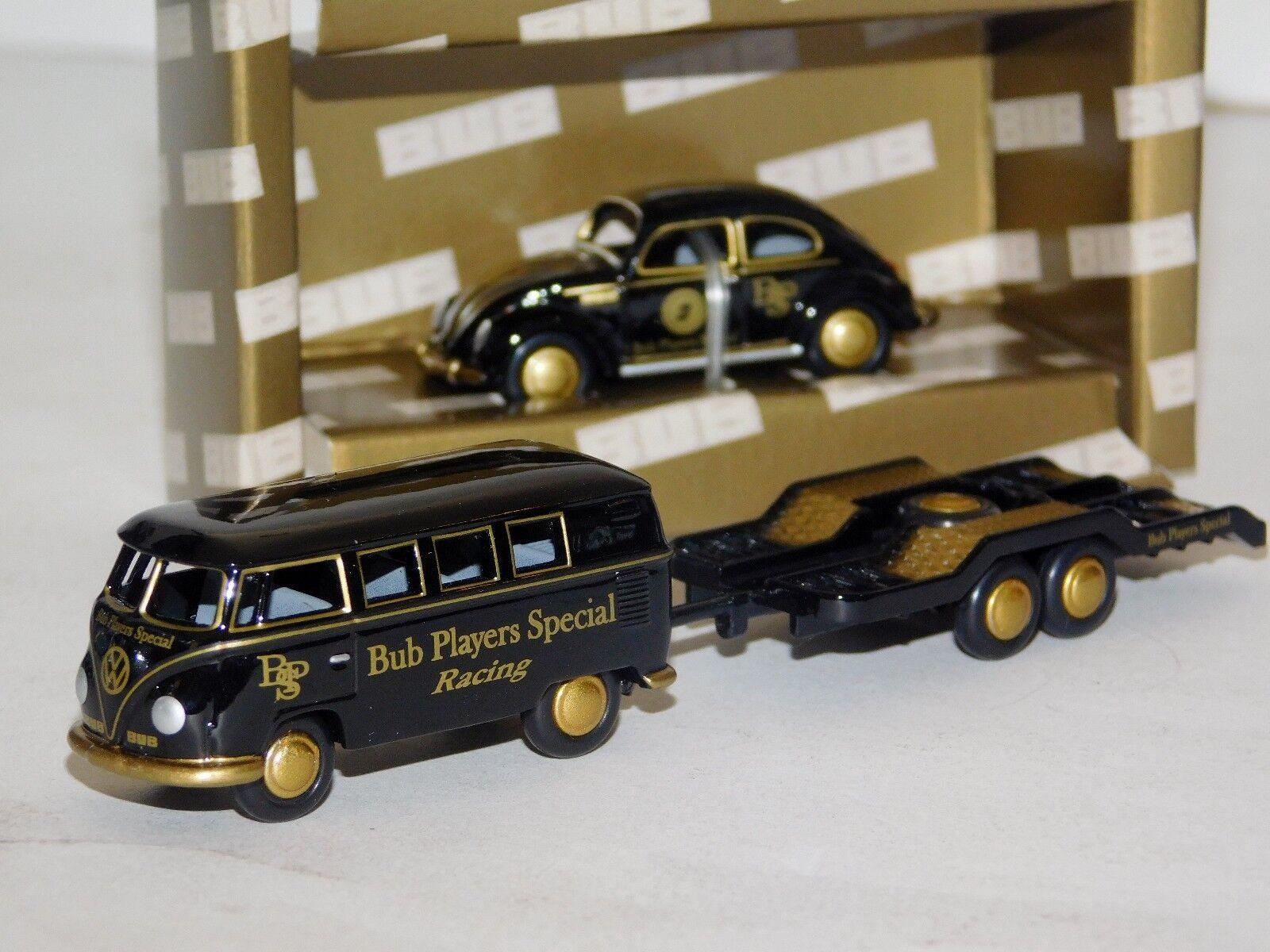 Lote de 2 como JPS  VOLKSWAGEN T1 Bus con remolque & Beetle Kaefer Bub 1 87