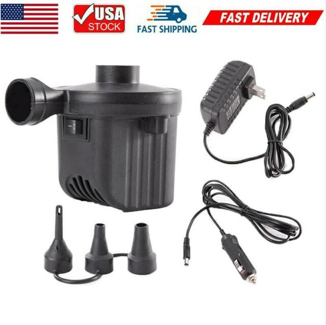 240V//12V Car Electric Air Pump Inflator Inflatables Camping Bed pool home 2 in 1