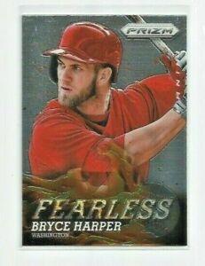 BRYCE HARPER (Washington Nationals) 2013 PANINI PRIZM FEERLESS INSERT CARD #F5