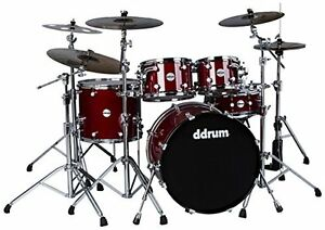 ddrum-REFLEX-ELT-522-TRD-Elite-5-Piece-Shell-Pack-Kit-Trans-Red-Lacquer