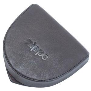 869a9bba03bd7 Das Bild wird geladen Muenzgeldboerse-Zippo-Leder-mocha-schwarz-Geldbeutel -Muenzbeutel