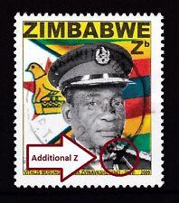 "Zimbabwe 2009 Major Plate ERROR ""Additional Z"" on Heroes, VFU - RARE"