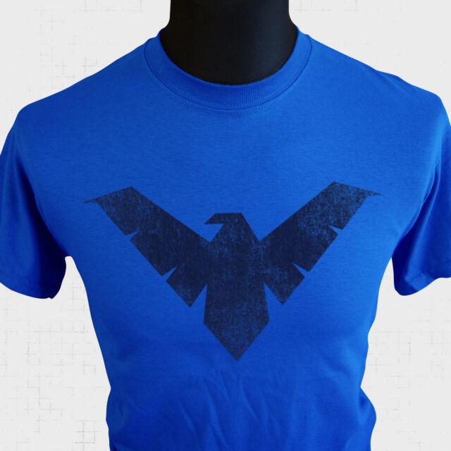 Nightwing Logo T Shirt Royal Blue Superman Batman  Marvel DC Comics Retro Royale