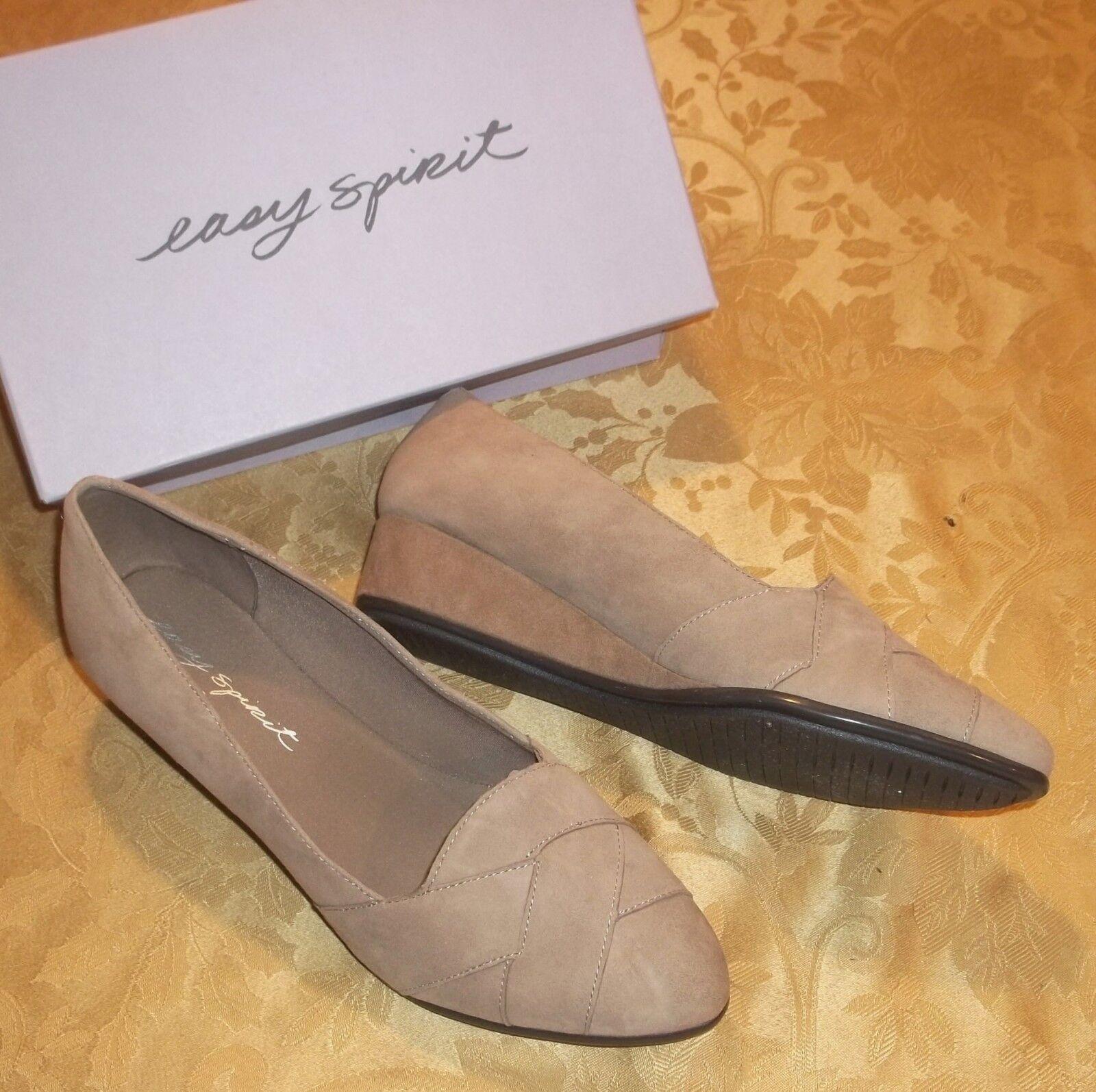 Damenschuhe EASY SPIRITARYSTA TAUPE Low WEDGESGröße 8 WIDE 8WNEULeder Schuhes 79