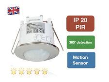 Modern 360  Recessed PIR Ceiling Occupancy Motion Sensor Detector Light Chrome