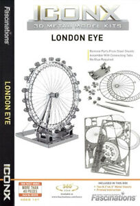 Fascinations-Metal-Earth-ICONX-LONDON-EYE-Ferris-Wheel-3D-Laser-Cut-Model-Kit