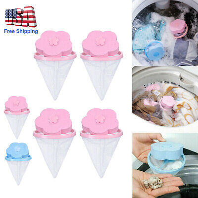 4X Floating Pet Fur Catcher Laundry Lint Hair Remover Filter For Washing Machine