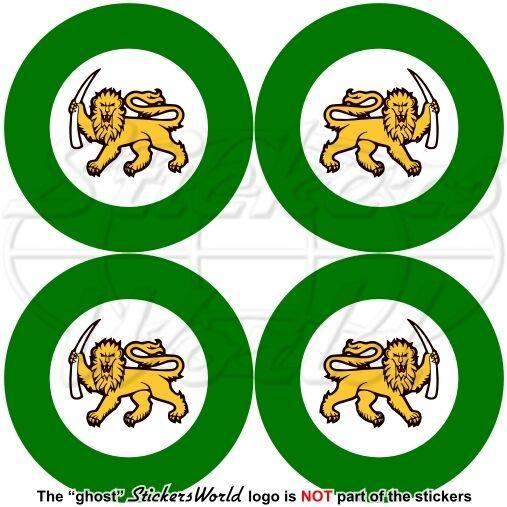 RHODESIA Rhodesian AirForce 1970-80 Aircraft Roundel, Zimbabwe Stickers 50mm x4