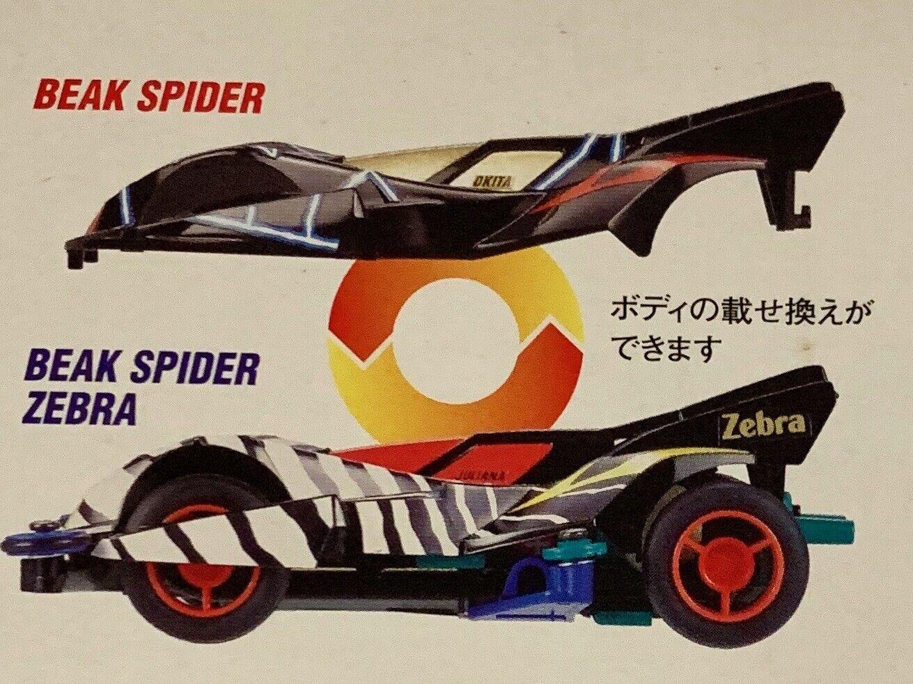 Tamiya 19422 Mini 4WD Beak Spider Zebra 1//32 NZA