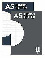 Una-almohadilla-de-escritura-5-Jumbo-Jotter-linea-gobernado-Paginas-Para-La-Escuela-La-Oficina-Y-El