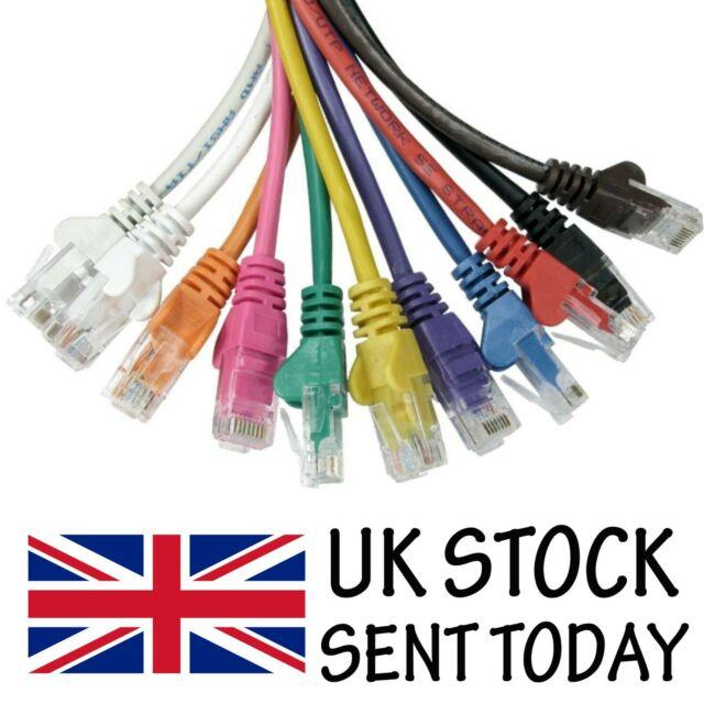 Câble Ethernet Internet Cat5e Réseau RJ45 LAN Patch plomb Wholesale 0.12 m à 50 m