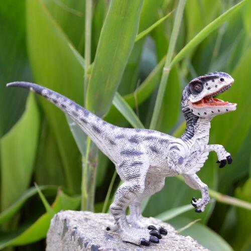 2018 Realistic White Velociraptor Raptor Dinosaur Figure Toy Model Gift To Kids