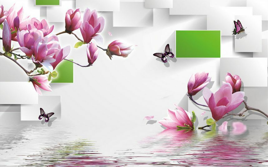 3D flower art water 255 Paper Wall Print Decal Wall Wall Murals AJ WALLPAPER GB