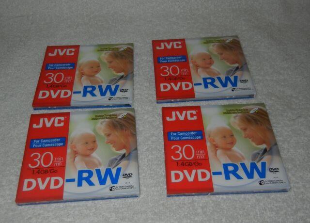 Lot Of 4 JVC DVD-RW 1.4GB Camcorder Mini DVD Discs