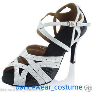 Ladies Women's Tango Jazz Latin Salsa Ballroom Dance Shoes Heels Sandals US 5-9