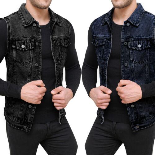 Denim Sleeveless Button Jacket Coat Outwear Men Women Waistcoat Classic Style