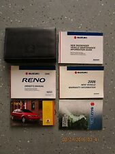 2006 - 06 SUZUKI RENO USER OWNER MANUAL HANDBOOK GUIDE INFORMATION BOOK