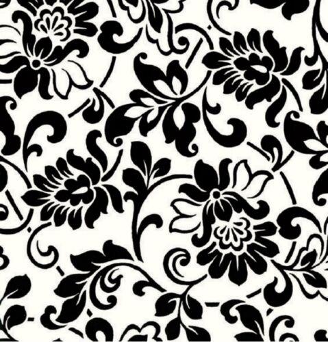 Klebefolie Ranken schwarz weiß Möbelfolie Dekor Heritage 45x200 cm selbstklebend