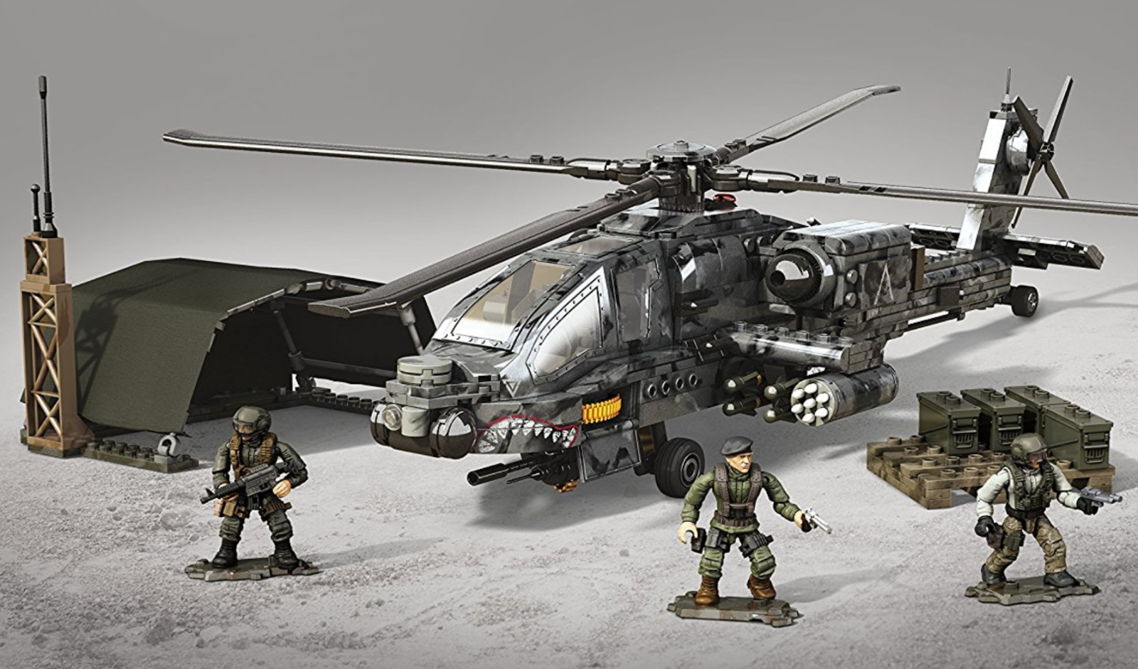CALL OF DUTY Mega Bloks WAR HELICOPTER Military Lego-type Large Building Set 14+