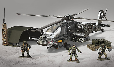 Call Of Duty Mega Bloks War Helicopter Military Lego Type Large Building Set 14 Ebay