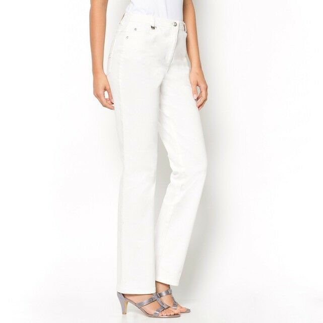 Anne Weyburn Stretch Twill Jeans White Size rrp  DH170 ii 08
