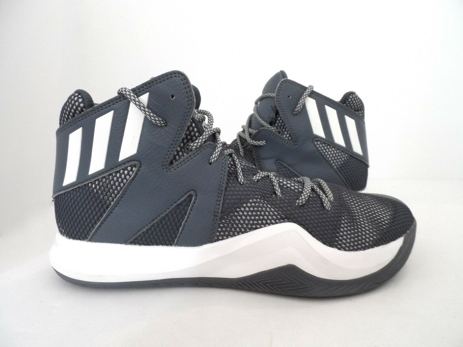 Adidas Men's Crazy Bounce Basketball shoes Onix White LGH Solid Grey Size 11