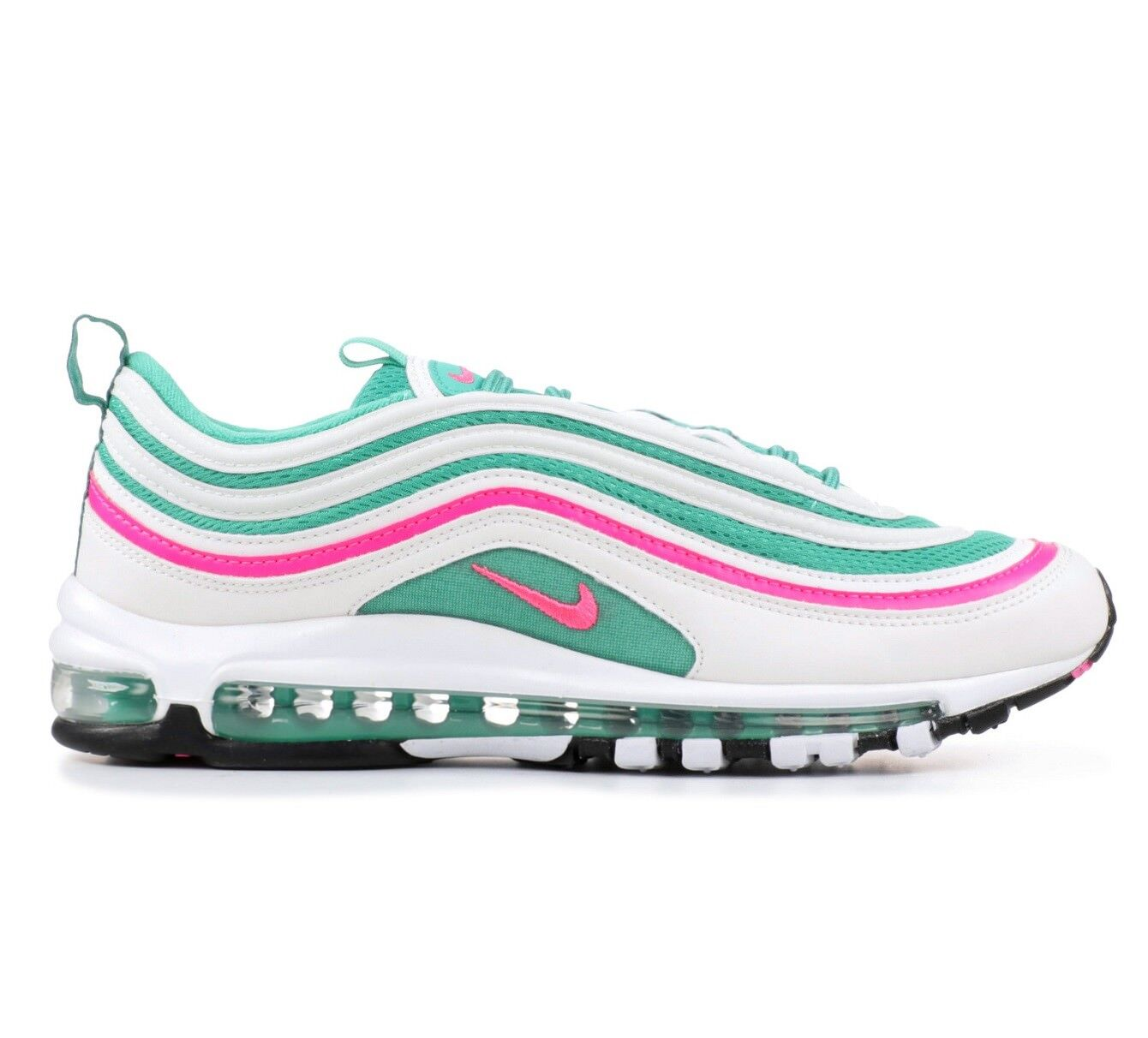 Nike Air Max 97 South Beach Mens 921826-102 White Kinetic Green Shoes Size 9