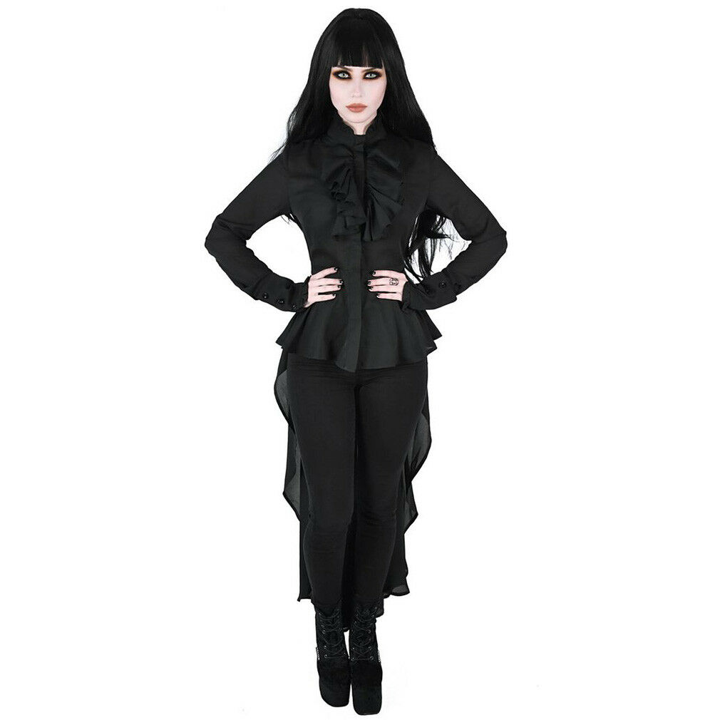 Killstar Gothic Goth Victorian Vampir Maxi Blause HemdBlause Sorrows Of The Heart