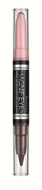 RIMMEL LONDON Magnif'eyes Double Ended Shadow + Liner - Pink And Purple Rain