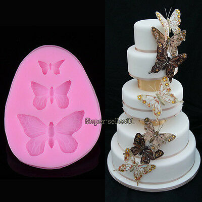 Silicone Butterfly Shapes Mold Cake Fondant Decorating Sugar Craft Mould Tools