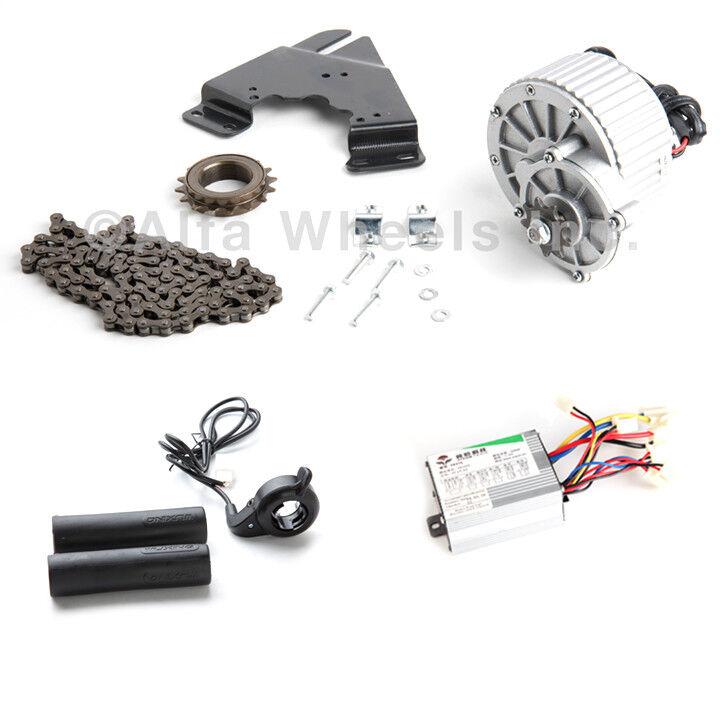 450W 24V electric bicycle brush motor conversion kit w control & thumb thredtle
