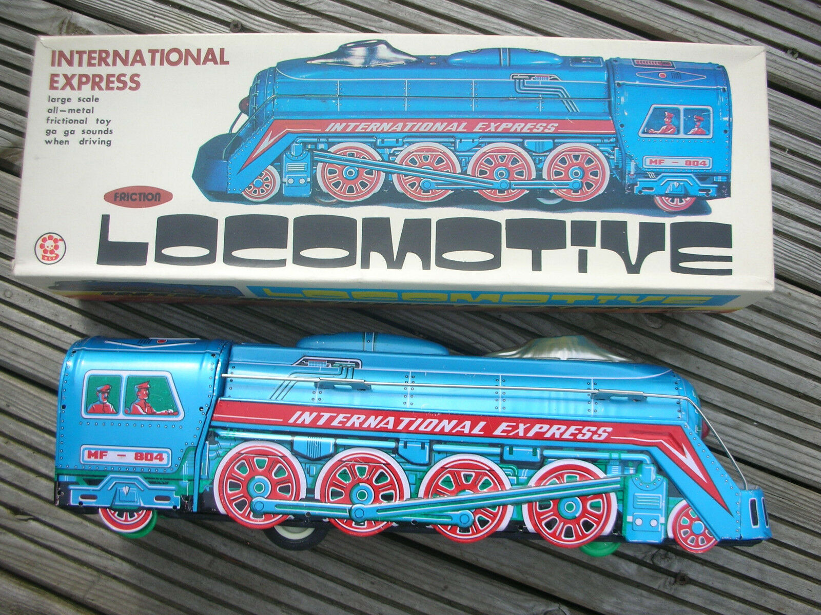 Vintage Grande Tin Metal International Express tren.