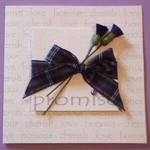 Scottish Wedding Invitation Tartan Thistles Roses Any Colours