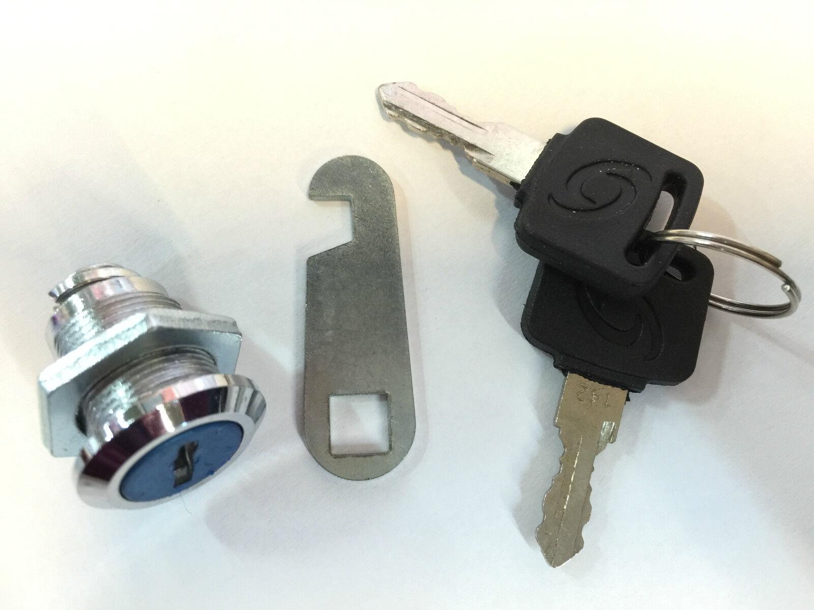 100x Schrank-und Möbelschloß Briefkastenschloss Schloss Universalzylinder 16mm