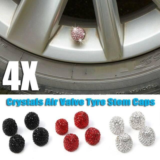 Wheel Tyre Dust Cover Valve Cap Lights Pink Crystal Bike Bicycle