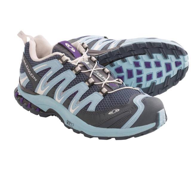 bbbf66c85471 New Salomon XA Pro 3D Ultra Trail Hiking Shoes Grey Demiwater Women s