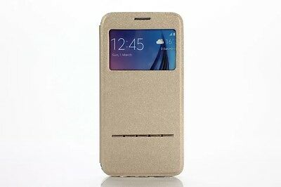New Flip Windows SmartWake PU Leather Case Cover Stand For Samsung Galaxy Phone