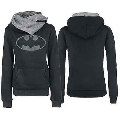 Womens Batman Printed Long Sleeve Casual Sweatshirt Ladies Jumper Sweater Tops