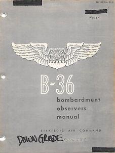 36 bombardment observers manual sac issued flight manual cd version