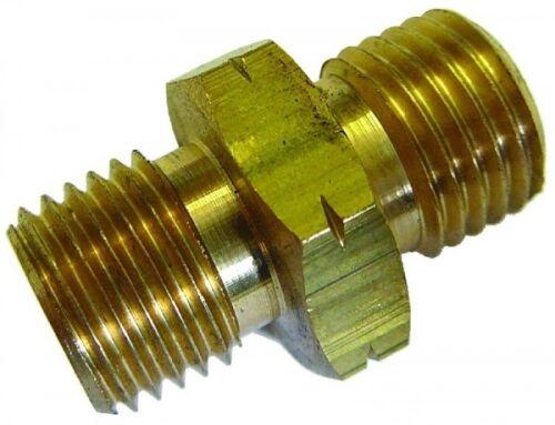 Gleich- Konnektor Messing M28 x 1.5 metrisch männlich Gewinde b2-00410